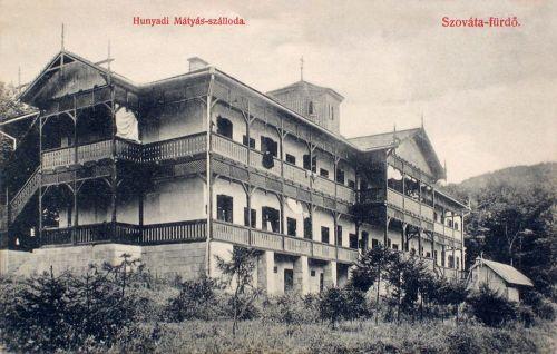 Szováta:Hunyadi Mátyás szálloda.1908