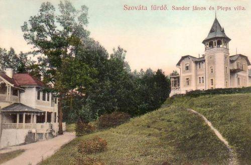Szováta:Sándor János és Pleps villa.1908