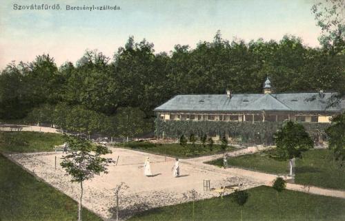 Szováta:Bercsényi szálloda és tenisz pálya.1915