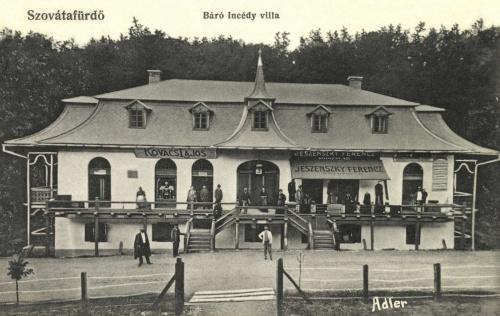 Báró Incédy villa,Jeszenszky Ferencz és Kovács Lajos üzlete,1910.