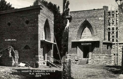 Szováta:épülő katolikus kápolna,1937.