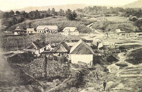 Szováta:sósfürdő látképe,1904.