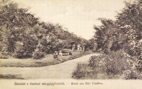 Vizakna sós gyógyfürdő:park részlet.1906