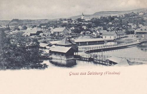 Vizakna fürdő:látkép a templommal.1900