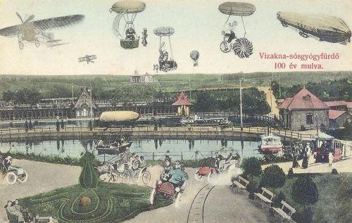 Vizakna:száz év múlva a jövőben.1908
