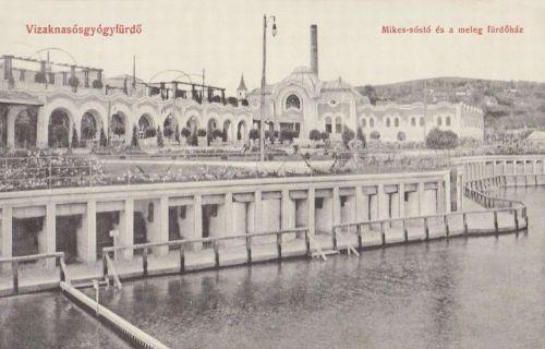 Vizaknasósgyógyfürdő:Mikes tó a Meleg fürdővel.1910