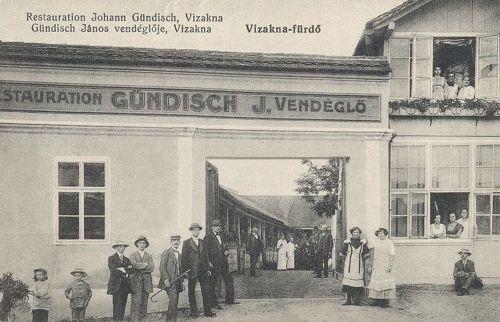 Vizakna:Gündisch János vendéglő.1915