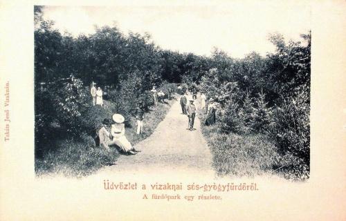 Vizakna:park egy részlete.1902