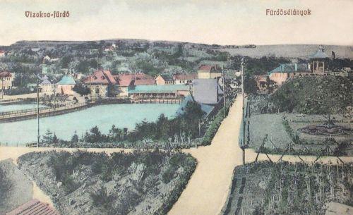 Vizakna:fürdő sétányok.1909