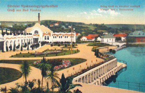Vizakna:Meleg fürdő és kincstári vendéglő.1913