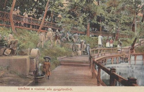 Vizakna fürdő:források a tóval.1907