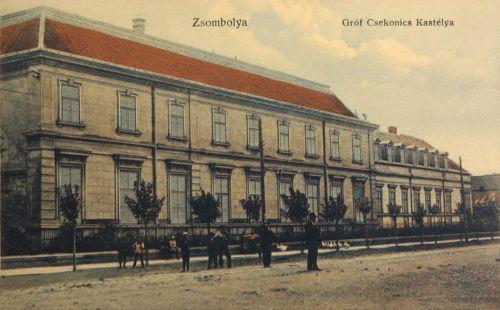 Zsombolya:gróf Csekonics kastély.1912