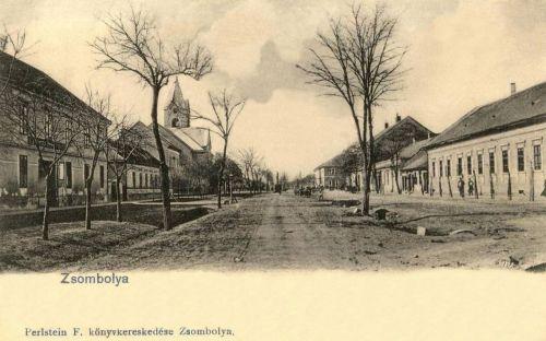 Zsombolya:Fő utca a templommal.1903