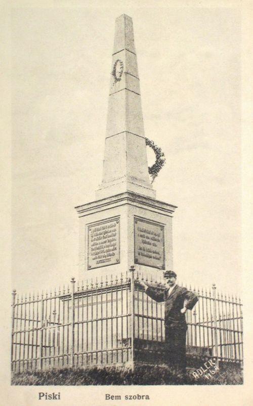 Piski:Bem József emlékmű.1905