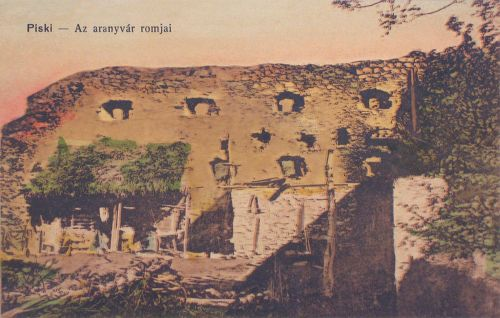 Piski:az aranyvár romjai.1915