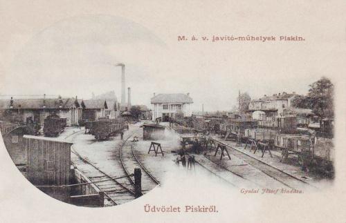 Piski:MÁV  páyaudvari javitó műhelyek.1903