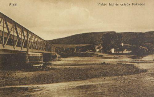 Piski:vasúti hid és 1848-as csárda.1912