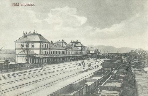Piski:pályaudvar.1908