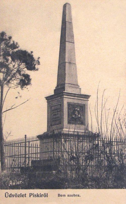 Piski:Bem Jószef tábornok szobra.1903