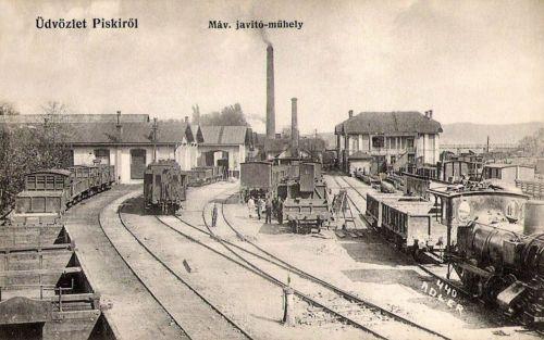 Piski:MÁV javitó műhely.1910