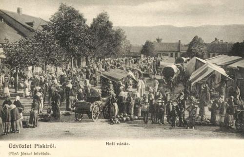 Piski:hetivásár,1905.
