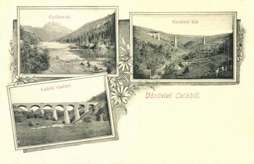 Csik:Karakkói hid és Ladoki viadukt,Gyilkos-tó,1904.