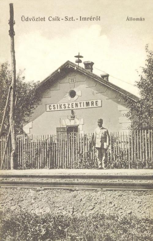 Csikszentimre:vasútállomás,1912.