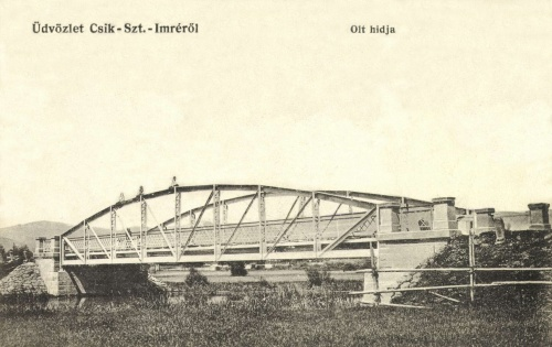 Csikszentimre:Olt vasúti hidja,1912.
