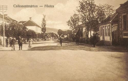 Csikszentmárton:Fő utca,1916.