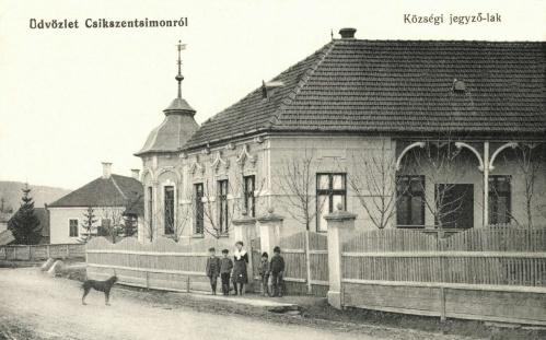 Csikszentsimon:községi jegyző lak,1912.