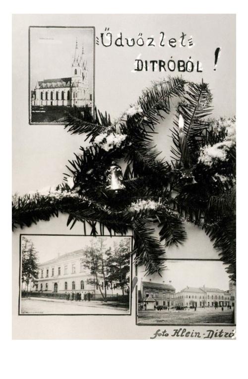 Ditró:templom,iskola,főtér,1940.