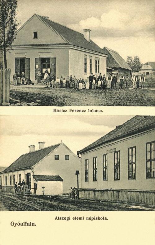 Gyergyóalfalu:Baritz Ferencz lakása,Alszegi elemi népiskola,1912.