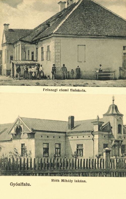 Gyergyóalfalu:Róth Mihály villája,Felszegi elemi fiuiskola,1912