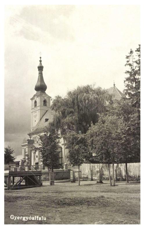 Gyergyóalfalu:katolikus templom,1943.