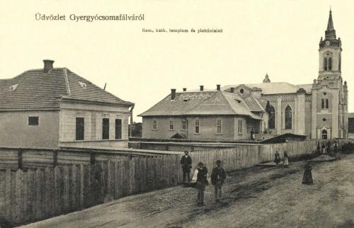 Gyergyócsomafalva:katolikus templom és plébánia lak,1911.