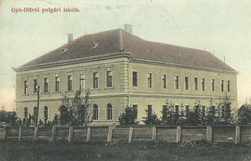Gyergyóditró:polgári iskola,1907.