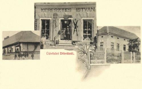Gyergyóditró:Keresztes István üzlete,1907.