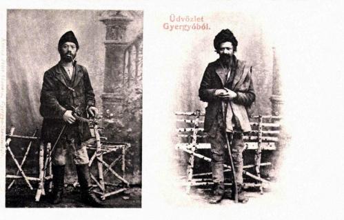 Gyergyó-Gheorgheni:cigányzenész Janó és pásztor Laci,1906.
