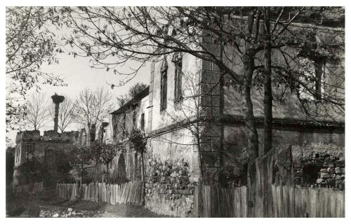 Gyergyószárhegy:romos Lázár várkastély,1941.