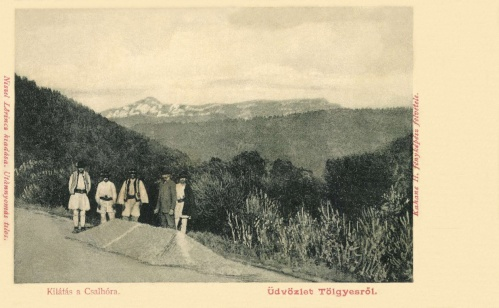 Gyergyótölgyes:kilátás a Csalhó felé,1905.