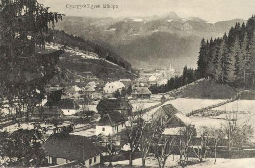 Gyergyótölgyes:látkép télen,1914.
