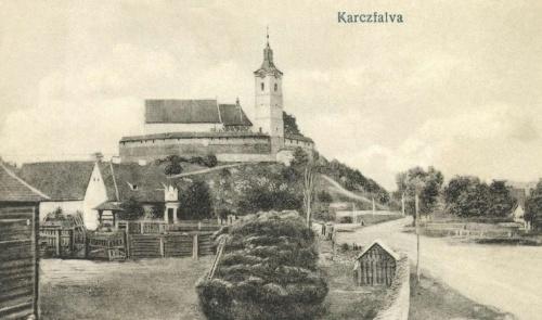 Karcfalva:látkép a templommal,1916.
