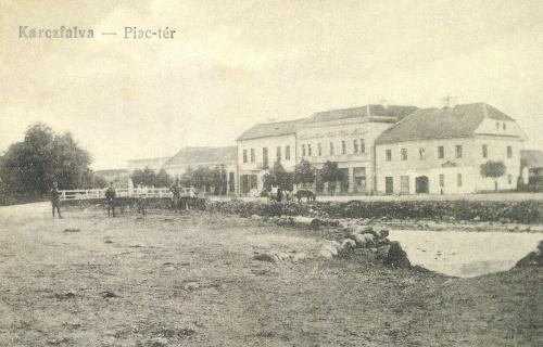 Karcfalva:piac tér,1917.