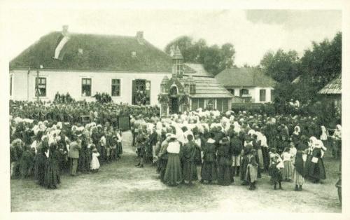 Kászonaltiz:magyar honvédek a győztes csatát ünneplik,1915 jún.