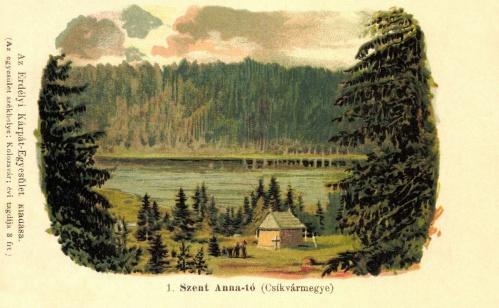 Szent Anna-tó:kőnyomat,Csik vármegye,EKE kiadás,1899.