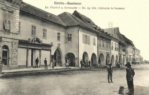Beszterce:evangélikus lelkész lak és a búzaszer,1916