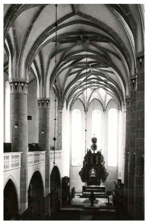 Beszterce:evangélikus templom belseje,1941