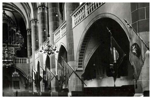 Beszterce:evangélikus templom belseje,1942