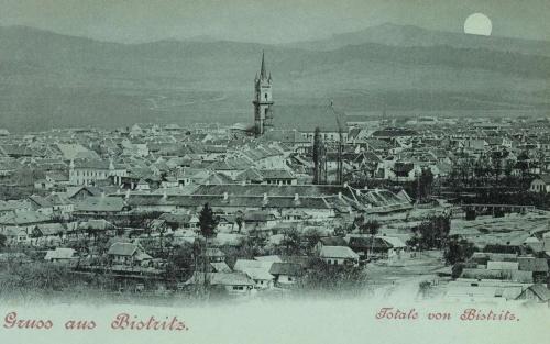 Beszterce:látkép (zöld holdas fénynyomat),1900