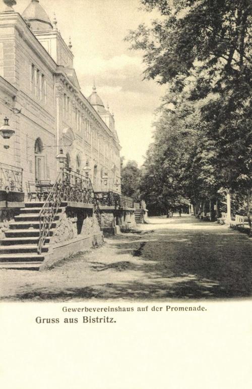 Beszterce:Iparos Egylet étterme,1906